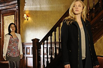 Joan (Lucy Liu) and Irene (Natalie Dormer) at the Brownstone apartment.