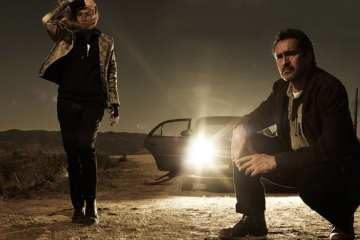 Diane Kruger and Demían Bechir star as Sonya, an El Paso detective and Marco, a Mexican state policeman.