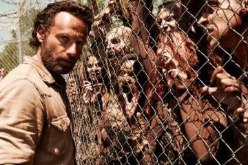 Rick (Andrew Lincoln) and the rest of the survivors deal with life at the prison six months after the events of last season's finale