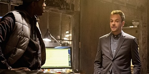 Alfredo (Ato Essandoh) confronts Sherlock (Jonny Lee Miller) about being a sponsor.
