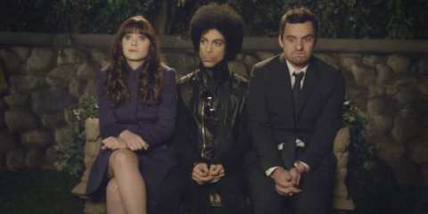 The group parties with Prince on the post-Super Bowl episode of New Girl.