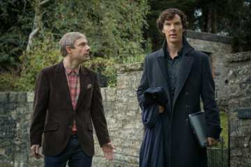Sherlock (Benedict Cumberbatch) and John (Martin Freeman) must face off with mastermind Magnussen.