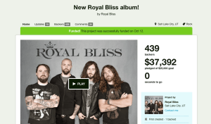 Royal Bliss' Kickstarter page, where they raised the funds for their newest album.