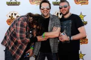 Shaun Morgan, John Humphrey and Dale Stewart of Seether at the 48 Hours Festival in Las Vegas, Oct. 16, 2011. Media credit to Zimbio.com
