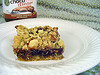 Nutella Cherry Oatmeal Squares