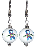 Ovarian Cancer Awareness earrings by Angela Moore