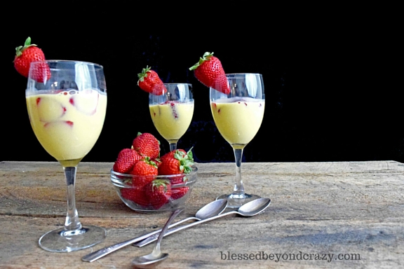 Strawberry Zabaione (naturally Gluten Free)