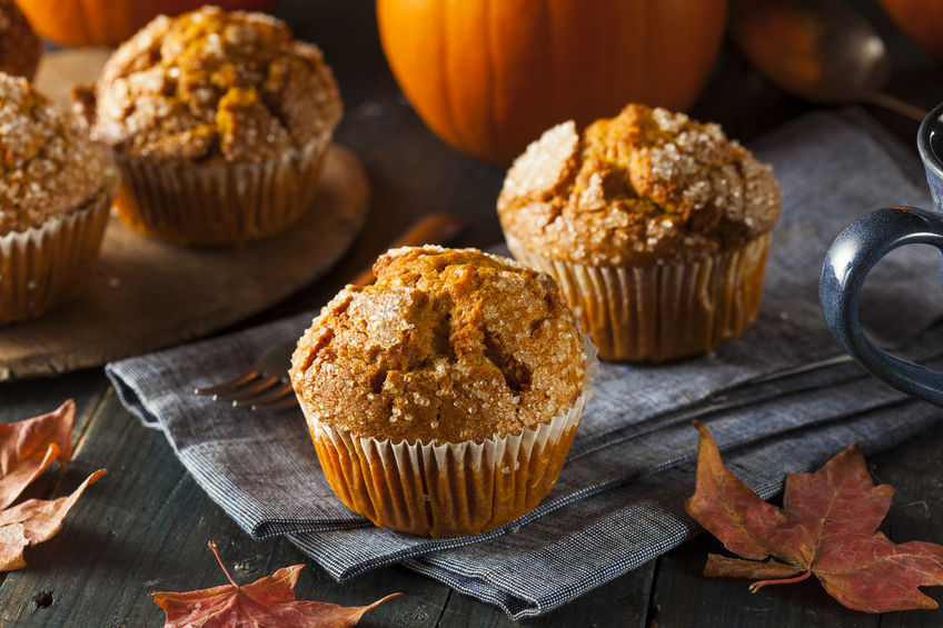 32061296 - homemade autumn pumpkin muffin ready to eat