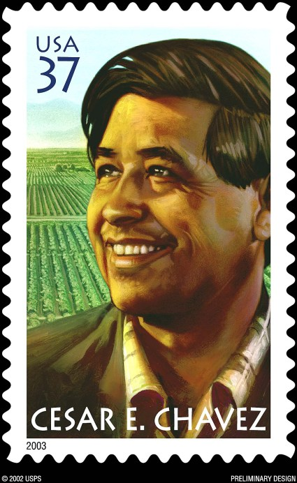cesar chavez postage stamp