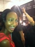 Tracey Reese Fall 2012 backstage with Mally Beauty Makeup
