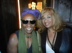Bethann Hardison and Tracey Brown at Destination Iman Launch party September 7, 2012 at the Electric Room in the Dream Hotel NYC