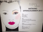 mataano face sheet iman cosmetics summser spring 2013