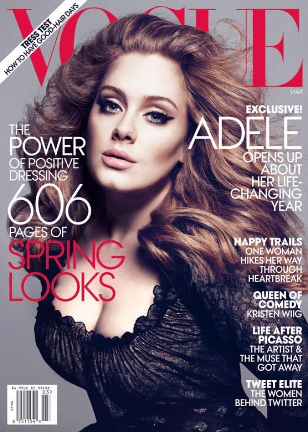 Adele Vogue 2013 Cover
