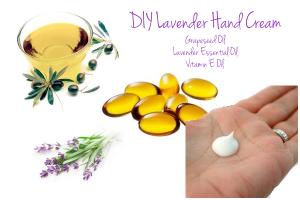 DIY lavender hand cream