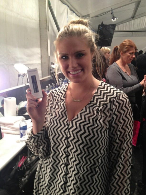 Natasha Julep nail polish representative Backstage beauty with Julep for Trina Turk New York Fashion Week Fall 2013