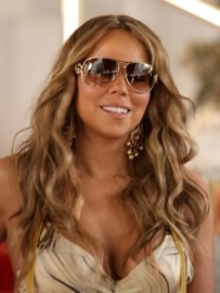 mariah carey beach waves hair 2