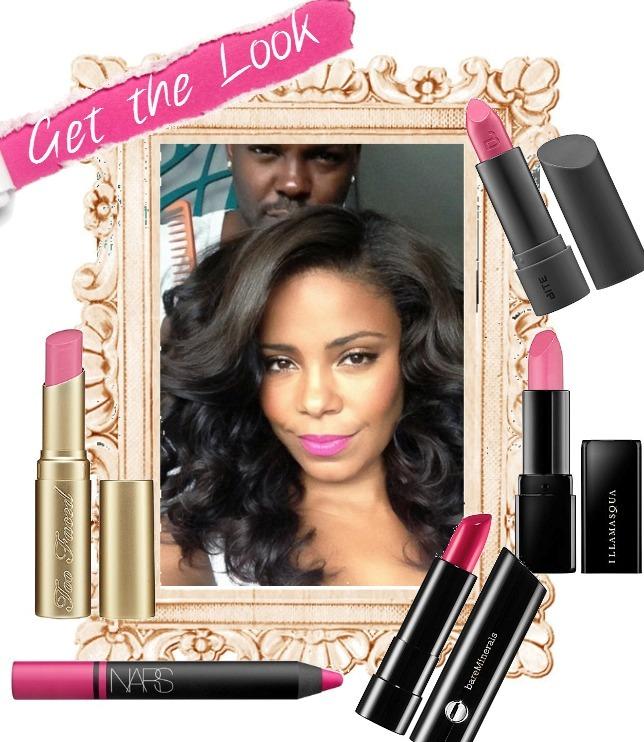 Blinging Beauty sanaa lathan pink lipstick layout use
