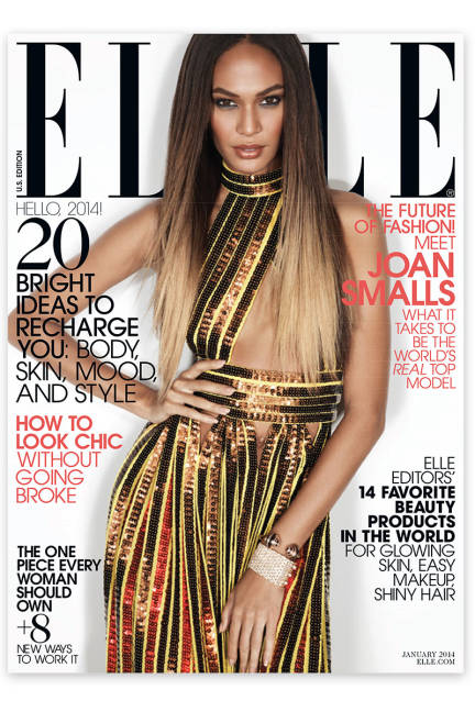 Model Watch: Joan Smalls covers January 2014 Elle U.S.