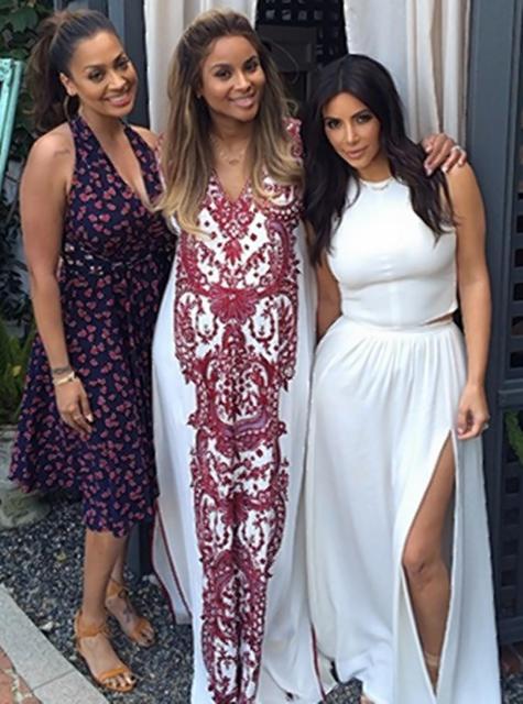 ciara lala anthony kim kardashian baby shower