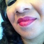 Flower Beauty Kiss Me Twice Lip & Cheek Chubby in Raisin the Roof  as lipstick