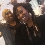 I had the pleasure of getting some umph! to my curls at the Tone @ToneSkineCare table by celebrity stylist   @GeniaChurch.