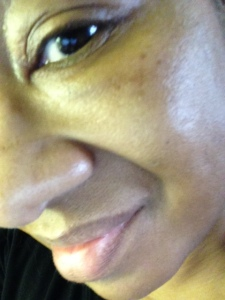 Before BECCA Shimmering Skin Perfector