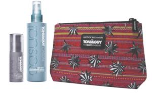 Matthew Williamson for TONI&GUY Hair Meet Wardrobe beauty bag