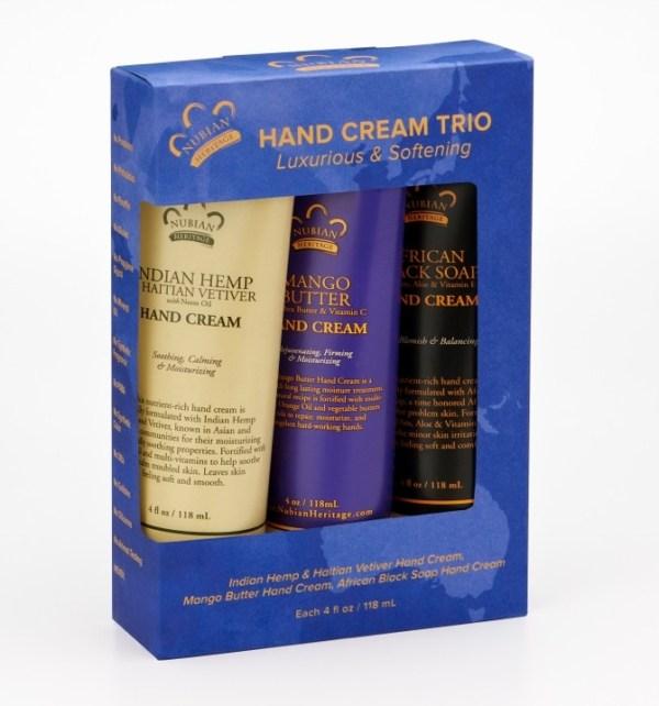 Nubian Heritage Hand Cream Trio