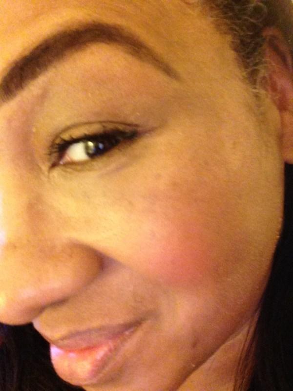 laura mercier lush nectarine second skin cheek colour swatch 2