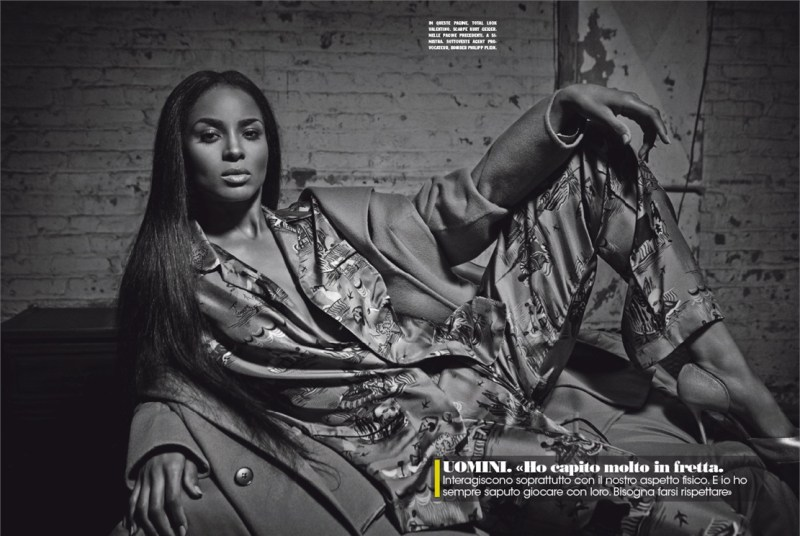 ciara l'uomo vogue january 2015