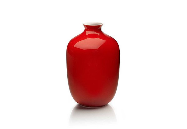 Middle Kingdom Mini Plum Vase in Coral Red