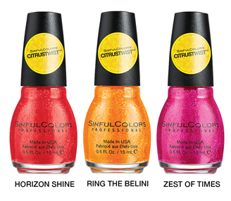 SINFULCOLORS CITRUS TWIST TOPPERS GROUP IMAGE