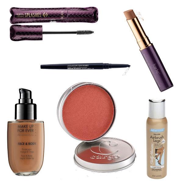 waterproof makeup layout