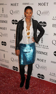 Joy Bryant Essence Women in Hollywood March 4, 2010 Getty Images
