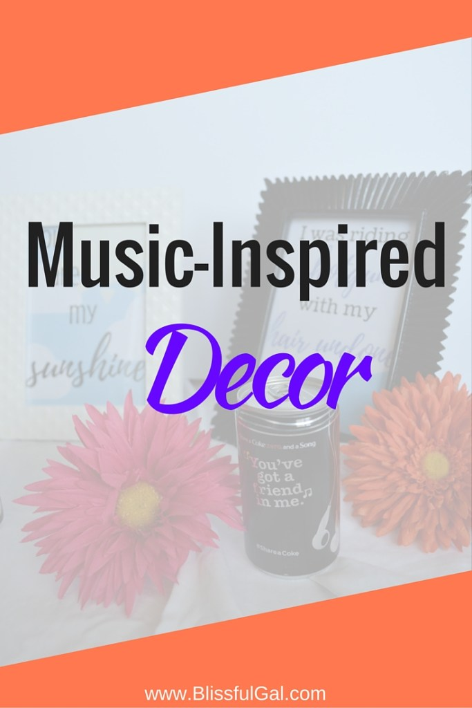 Music Inspired Decor- Music is such a huge part in everyone's lives and it seems as if we couldn't live without it. I know I couldn't because it has such a power to make me feel better when I am down or amp me up for a girls night out! Check out how I decorate my place with music.