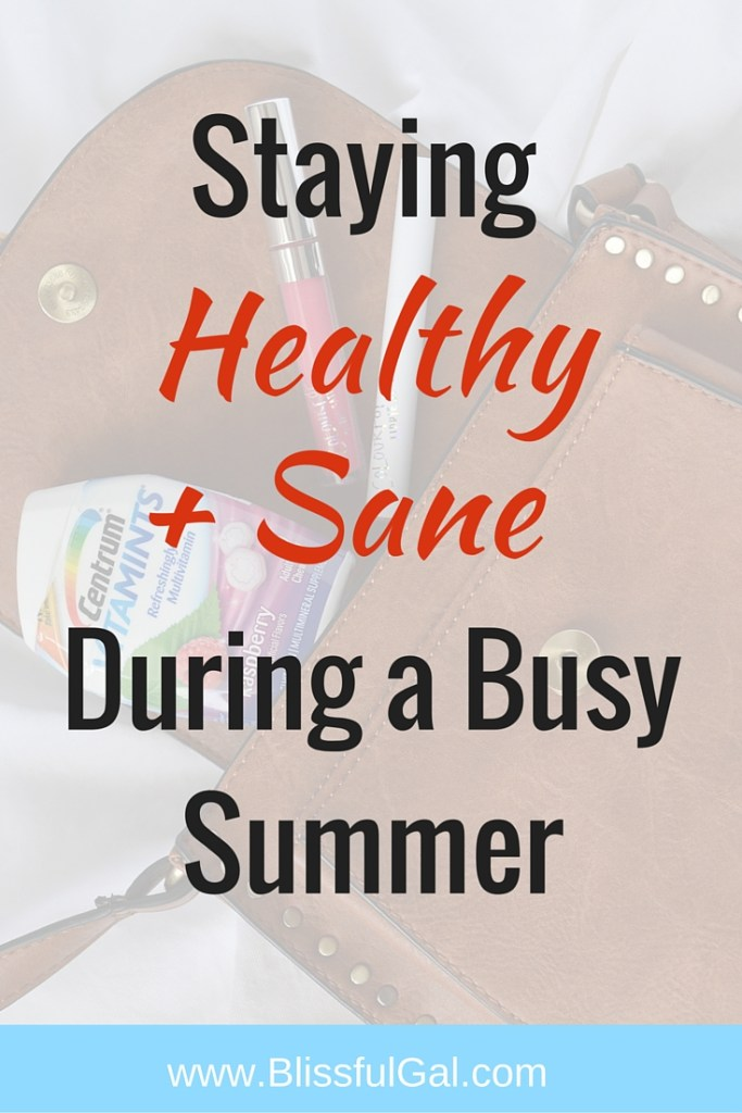 Staying Healthy and Sane During a Busy Summer- While it is fun to play with makeup and try new looks, it is always important to maintain an inner beauty and the health of your body. During these busy summer months, take some time to think about what it takes to make your body tick, like vitamins!