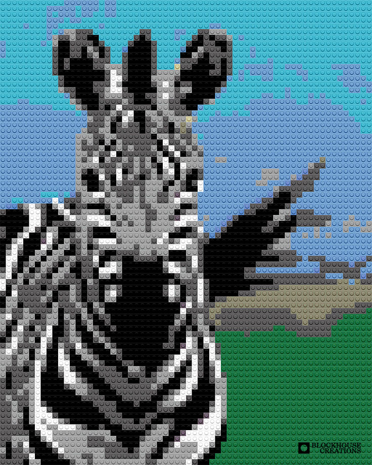100 Days of Mosaics – Day 16 – Zebra