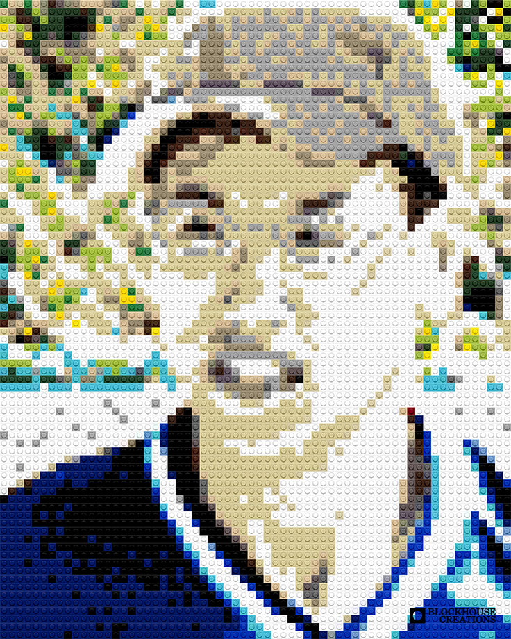 100 Days of Mosaics – Day 32 – Cap, Glasses, and Fence