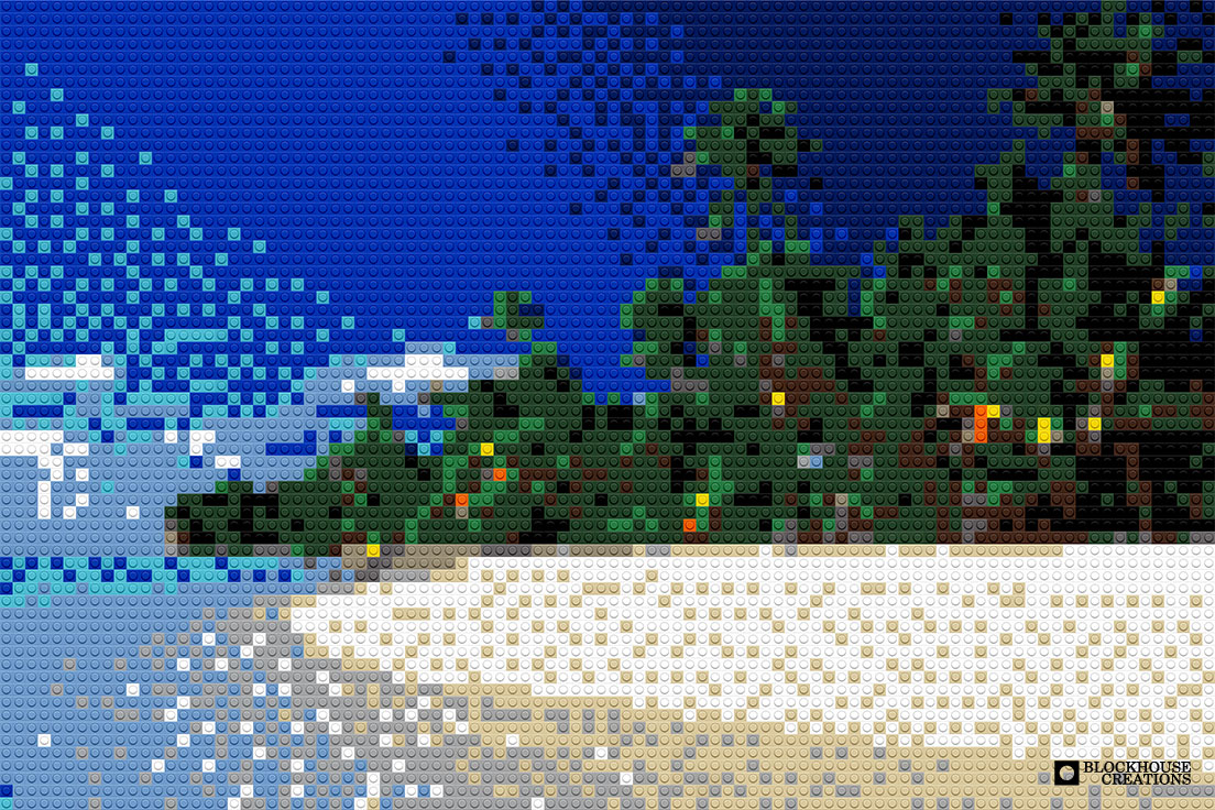 100 Days of Mosaics – Day 71 – Tropical Beach