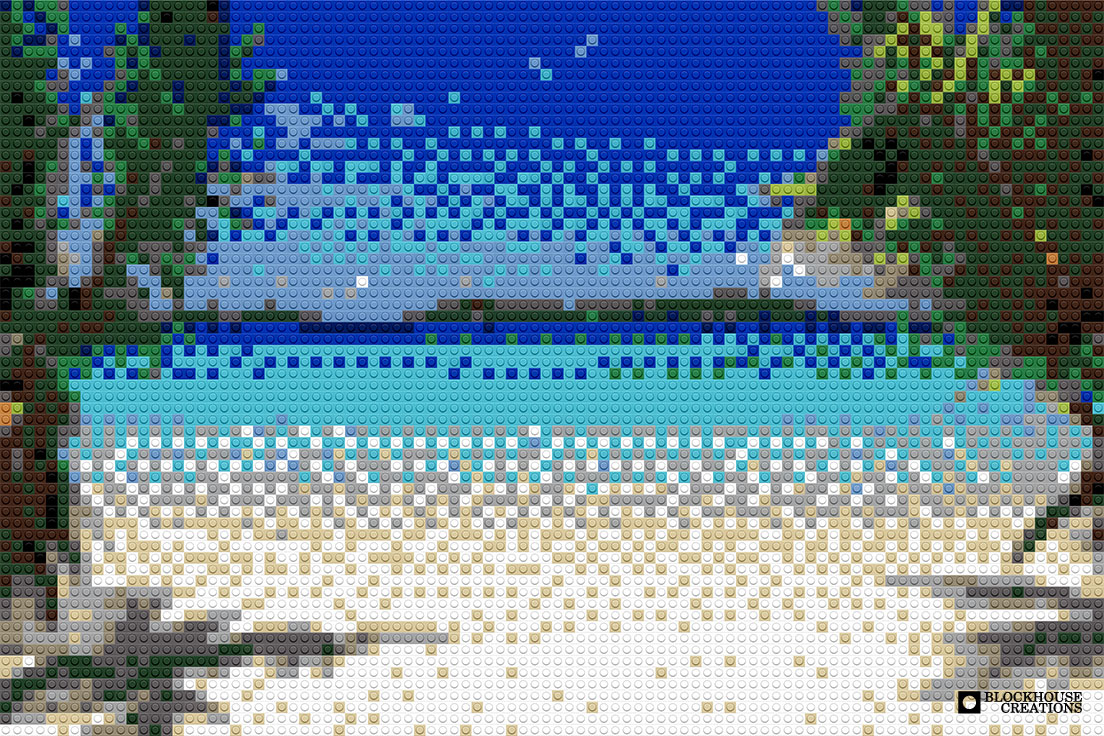 100 Days of Mosaics – Day 72 – View From the Beach