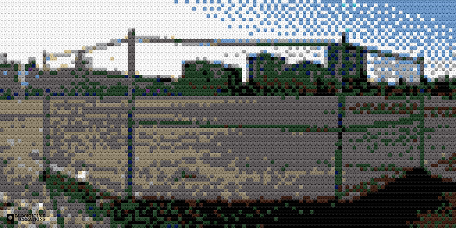100 Days of Mosaics – Day 98 – Softball Field (of Dreams)