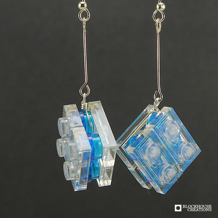 Ice Cube Dangle Earrings