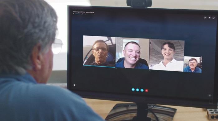 Skype Meetings un service de conférence audio et vidéo pour les professionnels.