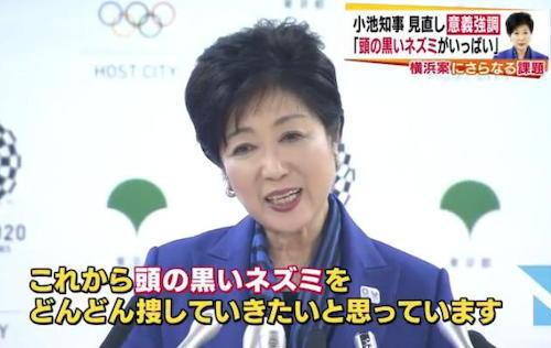 小池知事、失礼な記者を叱る「ジャーナリズムで頭の黒いネズミの研究をされてはどうか」