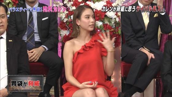 滝沢カレンのテレビに映ったモロパン・胸チラ・ミニスカ太ももがエロ過ぎる