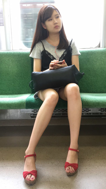 列車内ではみパンとか太ももをこっそり録画してる画像集