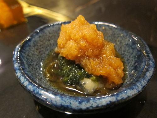 ナマコ・もずく・海ブドウ土佐酢おろし