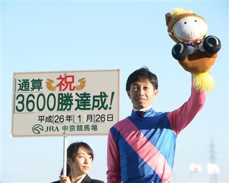 【競馬】 武豊騎手(44)、JRA通算3600勝達成!「今年もダービーを勝ちたいし、3700勝は秋くらいにできるようにがんばりたい」
