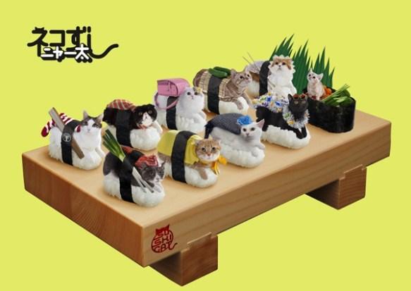 寿司シャリの上に猫! 日本発『ネコずし』が海外で話題急上昇中?
