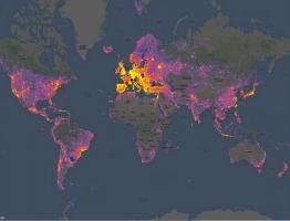 世界で最も写真を撮られている場所がわかるマップ。まぁ予想通りだけど北朝鮮暗すぎワロタw